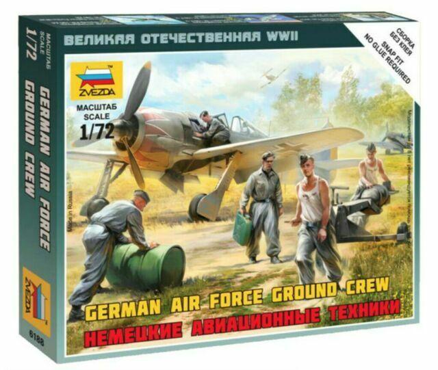 1:72 GERMAN LUFTWAFFE GROUND CREW WWII