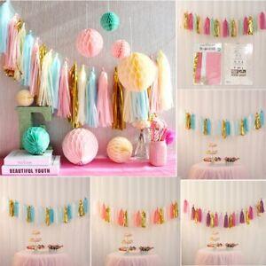 Wedding-Birthday-Garland-Paper-Tassels-1Park-Party-Decor-Prop-DIY-Tissue-Bunting