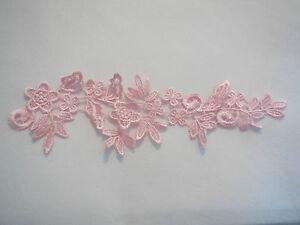 Bridal wedding ivory or white floral lace applique shoes lace motif is