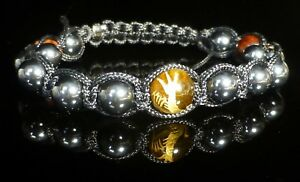 Gold-Dragon-Tigers-Eye-Bracelet-Crystal-Gemstone-Beaded-Hematite-Shamballa