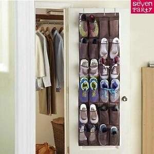 Image Is Loading 24 Pocket Hanging Over Door Shoe Organiser Storage