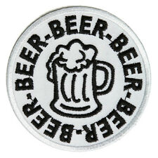 Embroidered Beer Beer Beer Iron on Sew on Biker Patch Badge