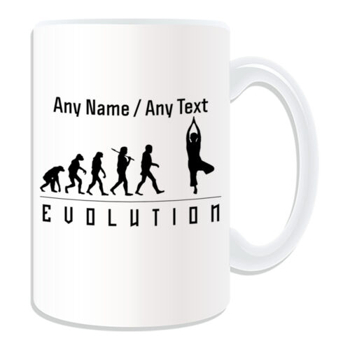 Personalised Gift Yoga Mug Money Box Cup Evolution Design Art Music Classical PE