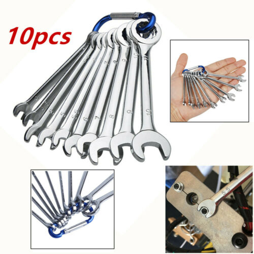 10PCS Mini Combination Wrench Spanner Set 4-11mm Metric Engineer Spanner Chrome