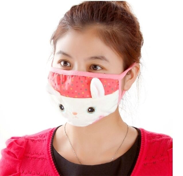 Lovely 3D HK Mouth Gauze mask Muffle Anti Dust Thermal Face Mask