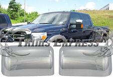 2008-2016 Ford F-250/F-350/Super Duty Chrome Door Mirror Covers- Top Half