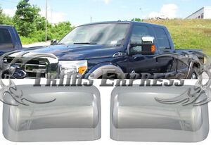 2008-2016 Ford F-250/F-350/Super Duty Chrome Door Mirror Covers- Top Half | eBay