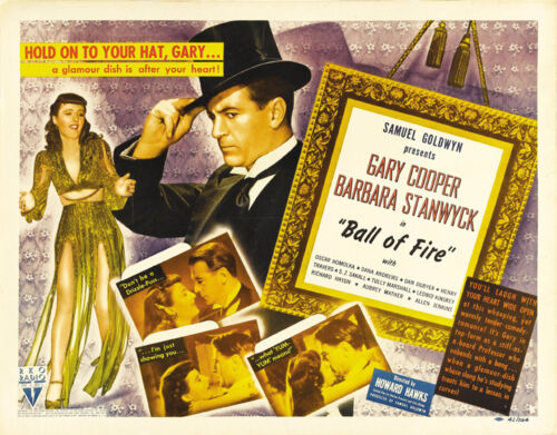Ball of fire Gary Cooper Barbara Stanwyck movie poster print 2