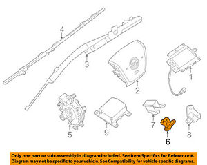 image is loading nissan-oem-airbag-air-bag-srs-front-impact-