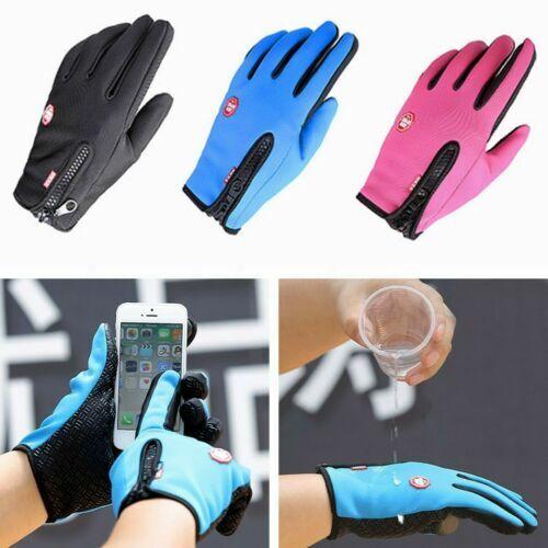 Screen Windproof Waterproof Outdoor Sport Gloves Men Women Winter Warm Mittens