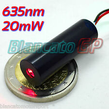 MODULO LASER 635nm 20mW PUNTO ROSSO 3V DC diode red dot module industriale hq