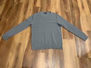 J-CREW-Textured-Cotton-Crewneck-Sweater-Gray-Men-039-s-Large-NWOT