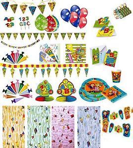 Deko-Einschulung-Schulanfang-Wimpelkette-Luftballons-Tischband-zum-Auswaehlen