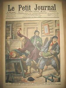 RUSSIE-CRIME-A-COUPS-DE-MARTEAU-CHASSE-AU-CAIMAN-EN-MER-LE-PETIT-JOURNAL-1908