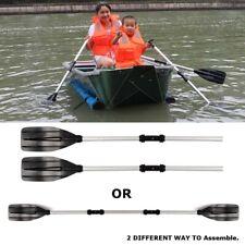 UK 2X Detachable Paddle Aluminum Afloat Kayak Oars Boat Rafting Canoe Tool 125cm
