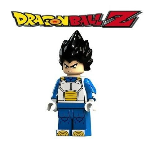 Custom Minifigure Gashapon MOC LEGO Nuovo in Blister Vegeta Dragonball DBS