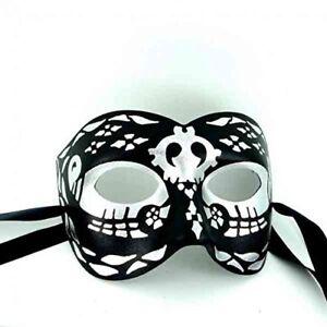 Day Of The Dead Masque-qualité Supérieure Italien Fait Homme Masquerade Masque-afficher Le Titre D'origine