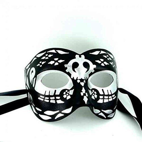 Superior Quality Italian Made Mens Masquerade Mask Day of the Dead Mask