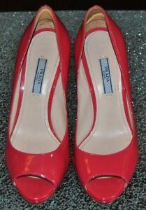 bout cuir rose de verni 5 talon haut 36 à en Chaussures Pradataille à ouvert cl1JFK