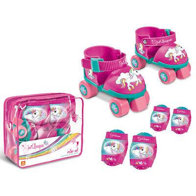 Pattini Per Bambine Unicorn Con Borsa E Ginocchiere 3+ Alleviare I Reumatismi