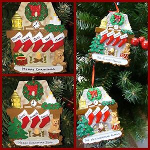 Christmas Tree Decorations Names.Details About Personalised Christmas Tree Decoration Ornament Fireplace Stockings 3 5 Names