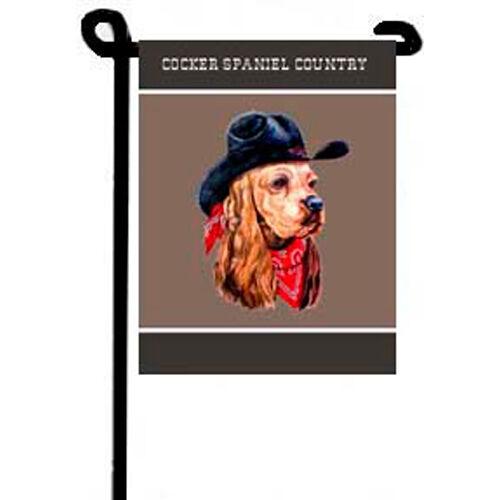 Cocker Spaniel Country Dog Garden Flag For Sale Online