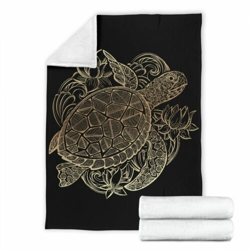 Personalized Turtle Zodiac Blanket Sea Turtle Lover Blanket For Child /& Adult