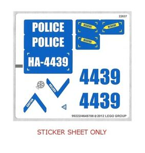 LEGO-4439-Town-City-Police-Heavy-Duty-Helicopter-STICKER-SHEET