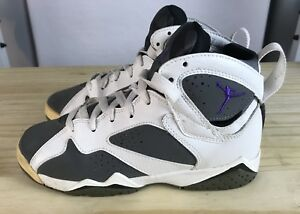 ccc35f6af75 Air Jordan 7 VII Retro GS White  Varsity Purple - Flint Grey 4.5y ...