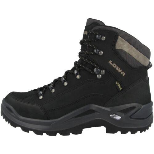 Lowa Renegade GTX mid Men Gore-Tex outdoor Hiking zapatos negro 310945-9995