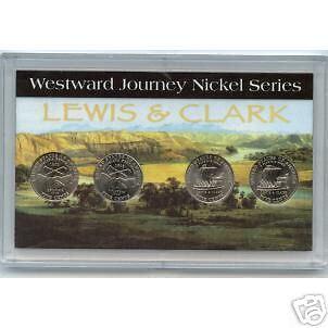 2004-WESTWARD JOURNEY 4 COIN SET IN DISPLAY CASE