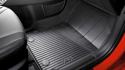 Original Audi A1 8X Gummimatten Gummifußmatten vorn schwarz 8X1061501A 041