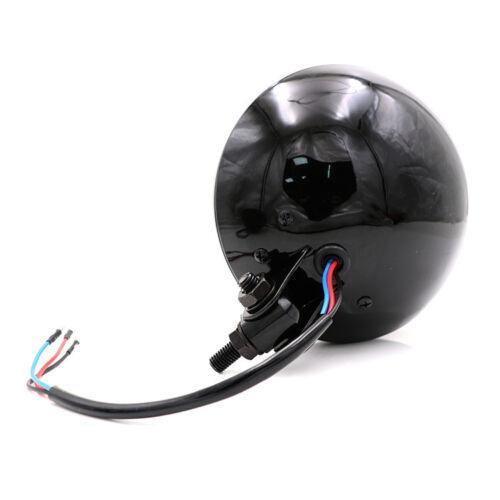 Motorcycle Grill Retro Vintage Black Clear Head Light Lamp Old School ATV Custom
