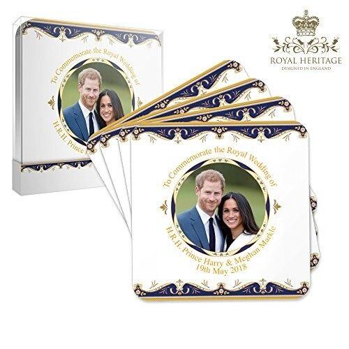 Royal Heritage H.R.H Harry and Megan Markle Wedding Commemorative Coasters, Cork