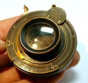 "Rapid Rectilinear Bauch & Lomb Optical Co Lens 8"" f4 Kodak EKC shutter"