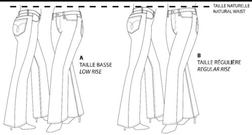 Jalie Stretch Jeans Low /& Regular Rise 27 sizes Misses Girls Sewing Pattern 2908