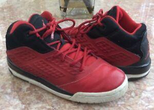 buy online c4999 e04da Image is loading NIKE-Jordan-Grade-School-Red-Black-White-Basketball-