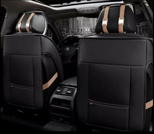 Elegante asiento del coche referencia negro imitación cuero fundas para asientos ya referencias rombo Print