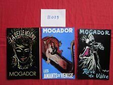N°11029 /  3 programmes ; Théatre Mogador 1960-1963  belle illustration