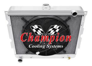 "17/""H x 28 1//4/""W Chevy Chevelle Custom Aluminum Radiator Fan Shroud /& 2-14/"" Fans"
