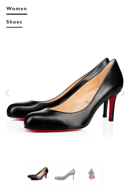 20d8b9e2bcb CHRISTIAN LOUBOUTIN New Leather Simple Pump Shoes 85 mm Black Size 37.5