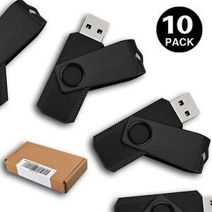 10 Pack 16GB Swivel USB Flash Drive Flash Memory Stick Thumb USB 2.0 Pen Drives