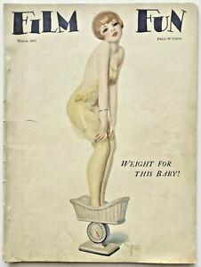 Hi-Grade-March-1927-Film-Fun-Magazine-Art-Deco-Flapper-Pin-Up-Cover-Enoch-Boles