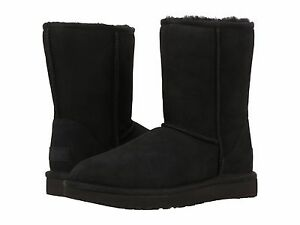 Women-039-s-shoes-UGG-classic-short-II-Stivali-1016223-Nero-5-6-7-8-9-10-11-NUOVO