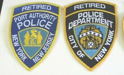 """NOVELTY NEW! PAPD  /& NYPD   /""""Retired/""""  patch"""