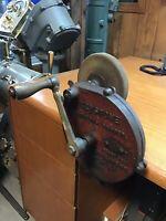 Evelyne Bois Vintage Antique Coffee Bean Moulin Windmill Manivelle Manuel Grinder