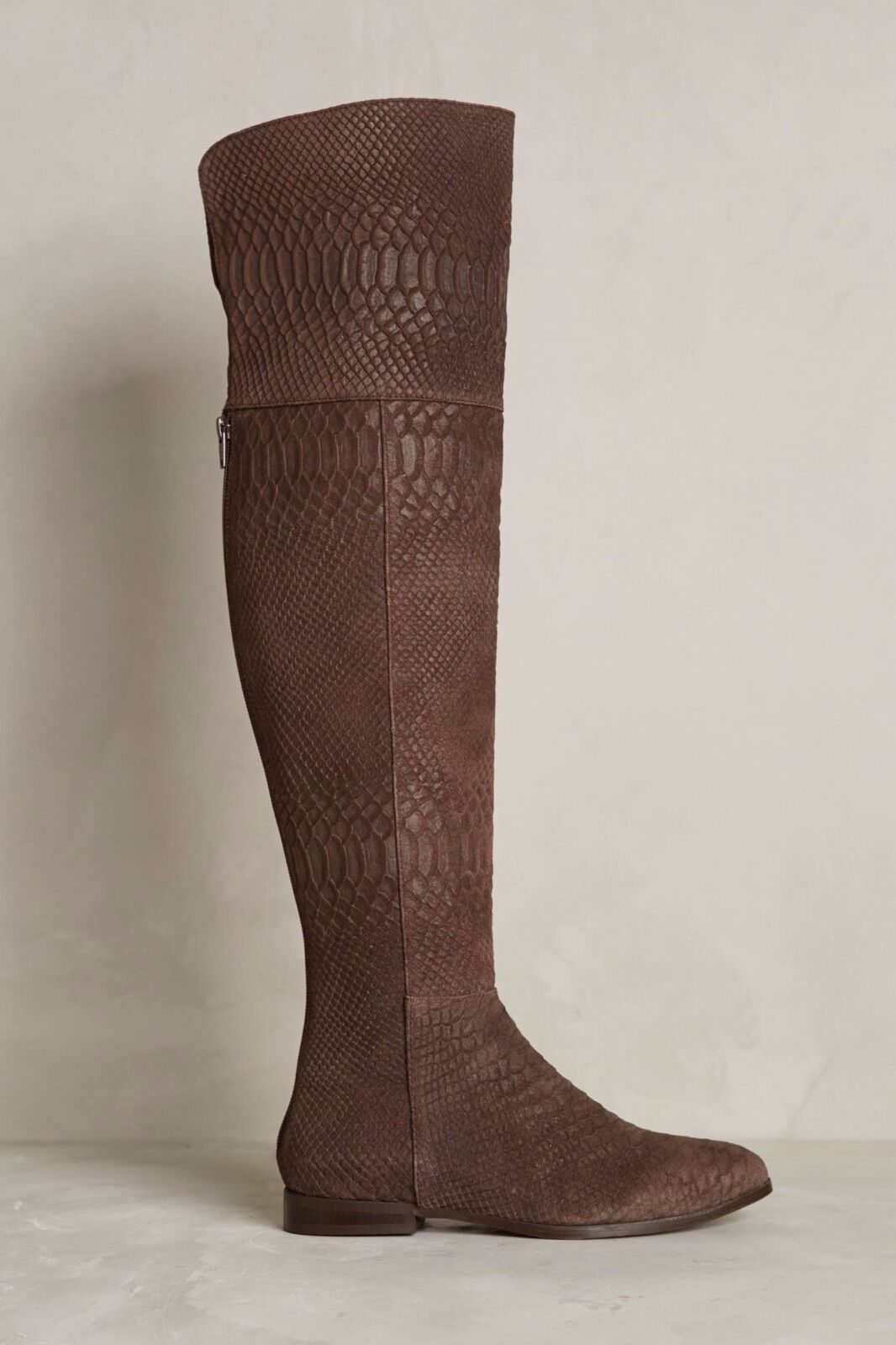 NWOB Seychelles Over the Knee Thigh High Brown Leather Boots Anthropologie Sz6.5