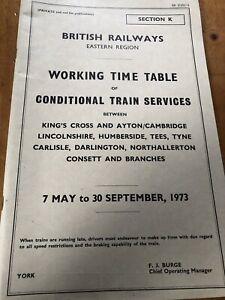 1989-Eastern-Region-Railway-Working-Timetable-Kings-Cross-Lincs-Hunberside-York