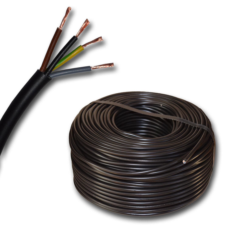 (  m) H03VV-F 4G0,75 mm² H03VVF 4x0,75 schwarz Schlauchleitung Stromleitung | Wonderful