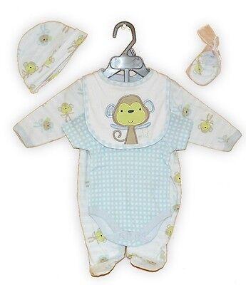 Neu Baby Jungen 5tlg.strampler Set Gr.56 62 68 Englandmode Erfrischung